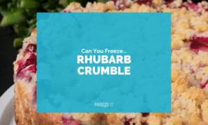 Can You Freeze Rhubarb Crumble