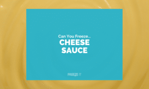 Can You Freeze Cheese Sauce